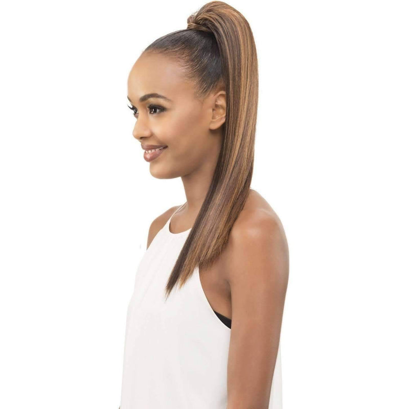 "POCKET BUN 183 | Heat Resistant Synthetic 18"" Extension (Honeycomb Base) - African American Wigs"