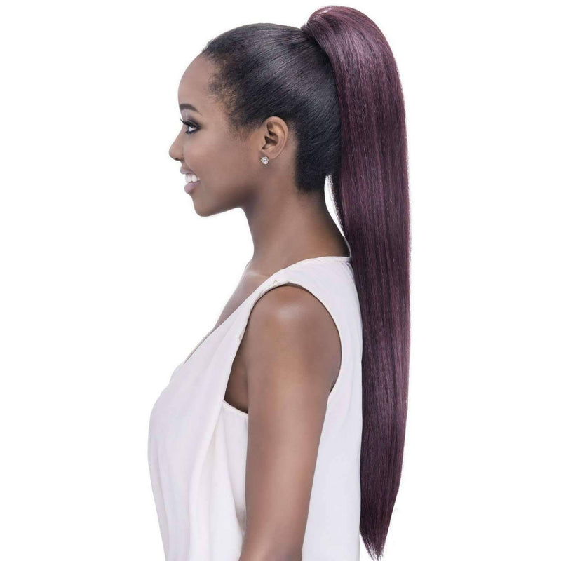 "POCKET BUN ROSE | Heat Resistant Synthetic 28"" Extension (Honeycomb Base) - African American Wigs"