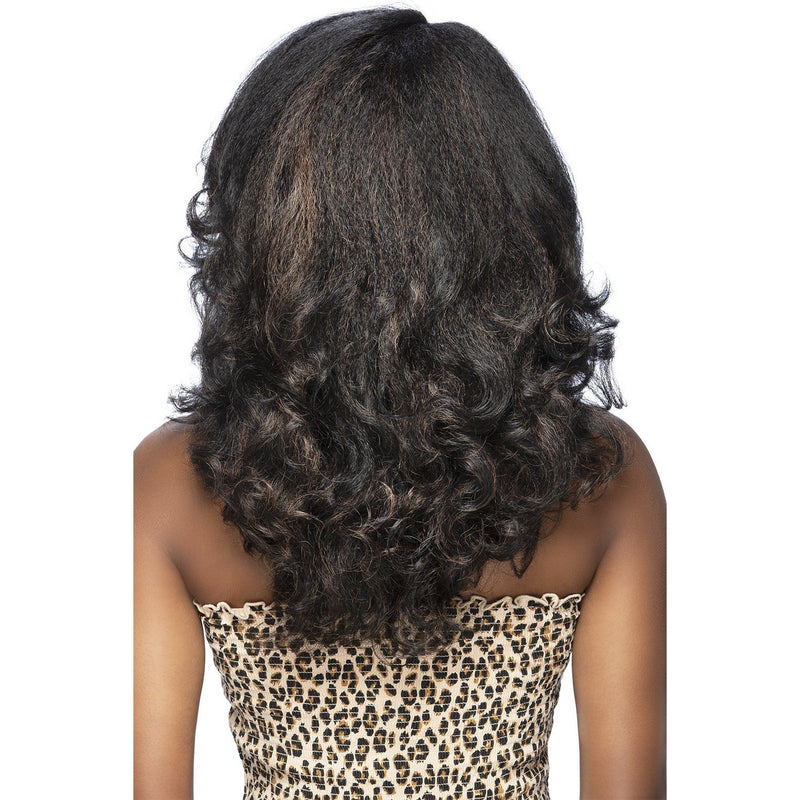 "POOKY | 17"" LAYERED ROLLER SET CURL & SIDE BANG WITH INV SIDE PART"