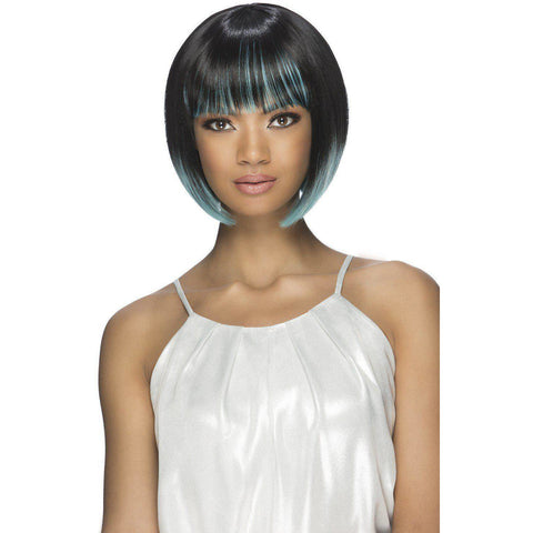 "Image of PRESLEY 10"" LAYERED FRINGE ENDS BOB WITH FRINGE BANG"