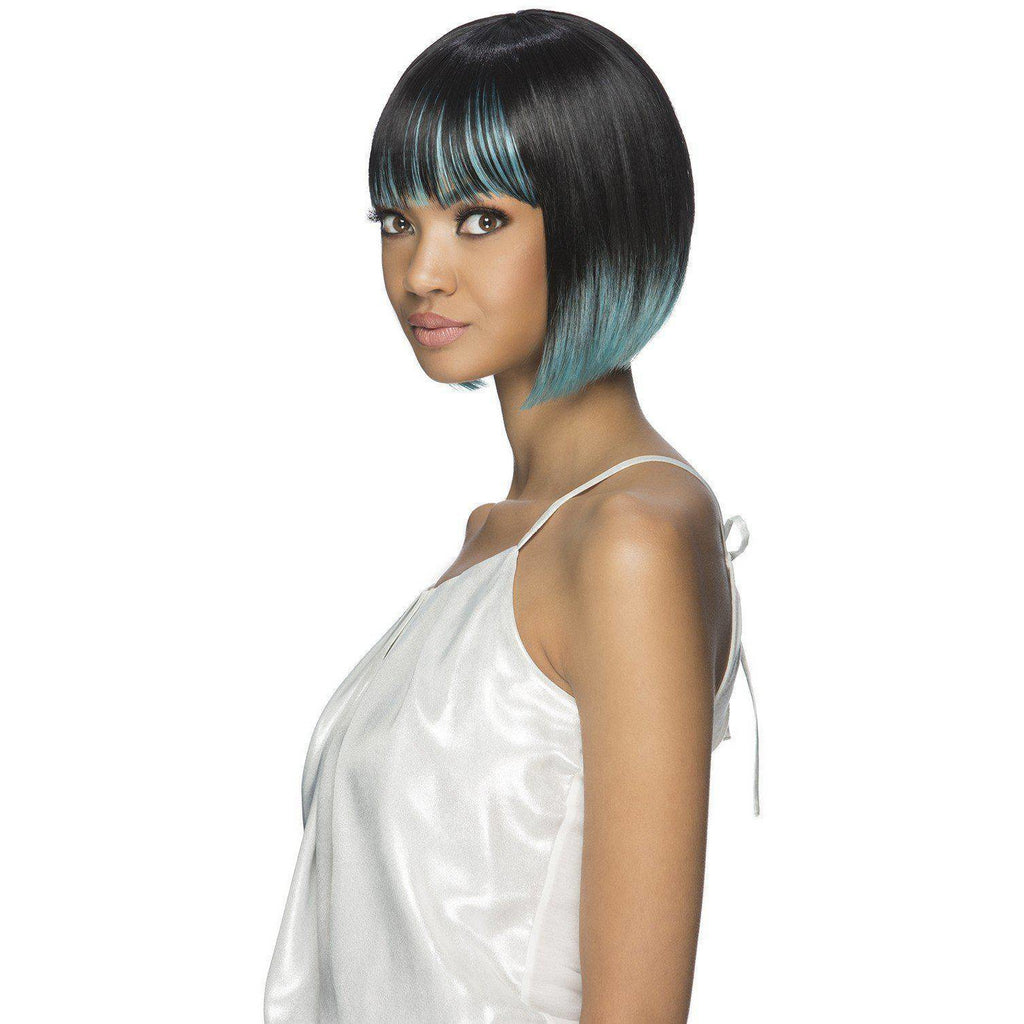"PRESLEY 10"" LAYERED FRINGE ENDS BOB WITH FRINGE BANG"