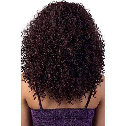 QE.Abby - Long Length Curly Synthetic Half Wig | Motown Tress - African American Wigs