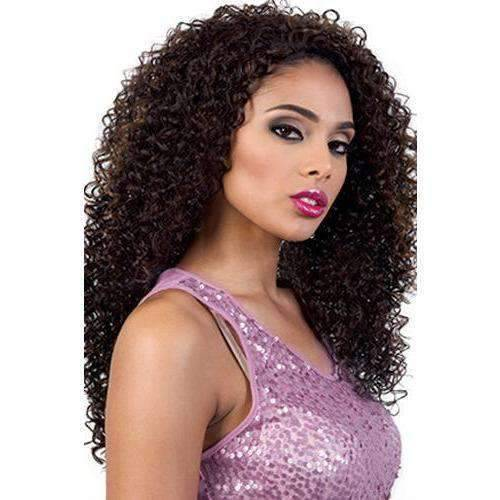 QE.Bling - Long Length Curly Synthetic Half Wig | Motown Tress - African American Wigs