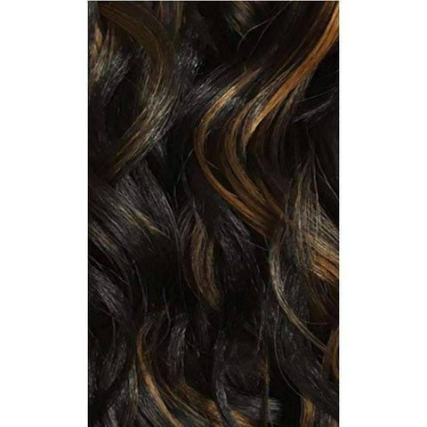 Image of QE.Tanika - Medium Length Wavy Synthetic Half Wig | Motown Tress - African American Wigs