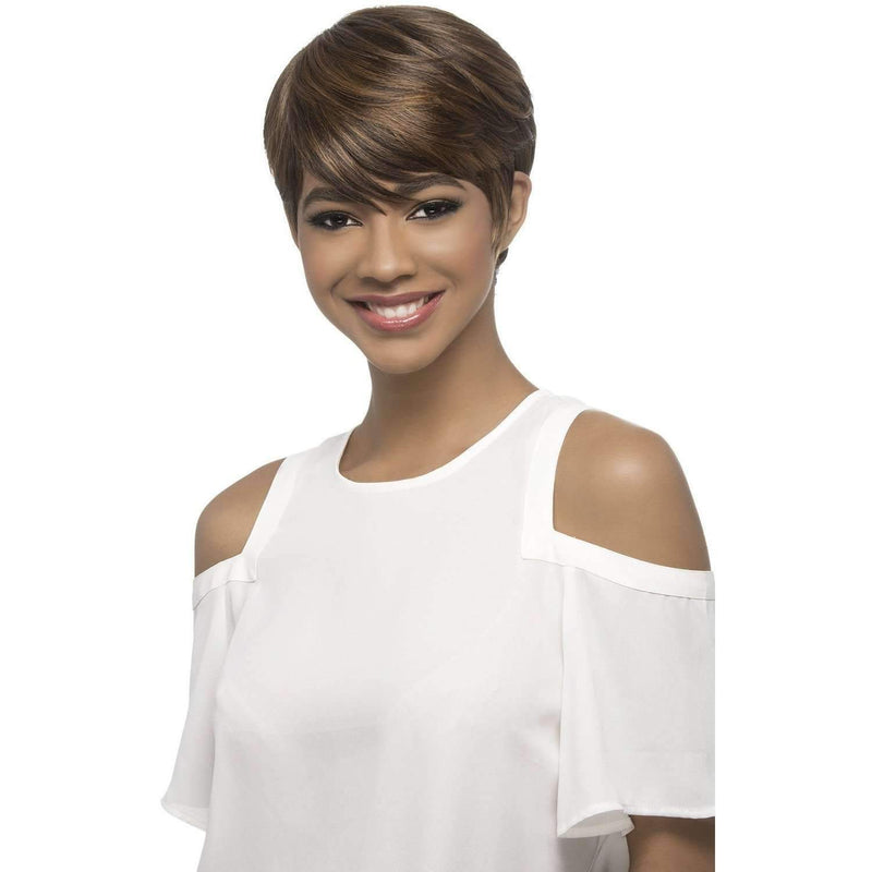 QURI Synthetic Short Cut With Sweft Bang Vivica Fox - African American Wigs