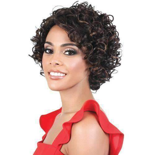 S TISHA Heat Resistant Synthetic Short Wig Motown Tress - African American Wigs