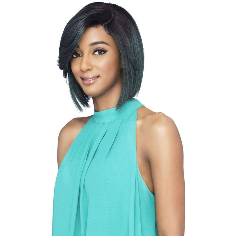 SANTORINI Straight Synthetic Blunt Cut W/Side Vivica Fox - African American Wigs