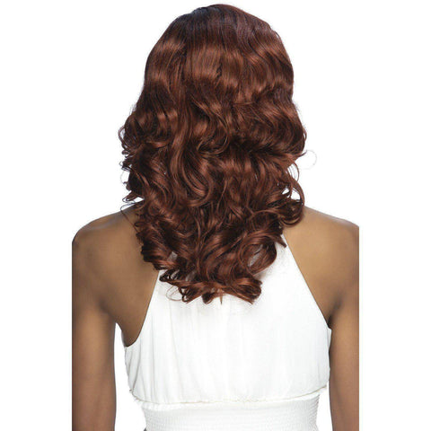 "SARIYAH 16"" LAYERED FINGER WAVE ON TOP & BODY WAVE WITH SIDE INVISIBLE PART - African American Wigs"