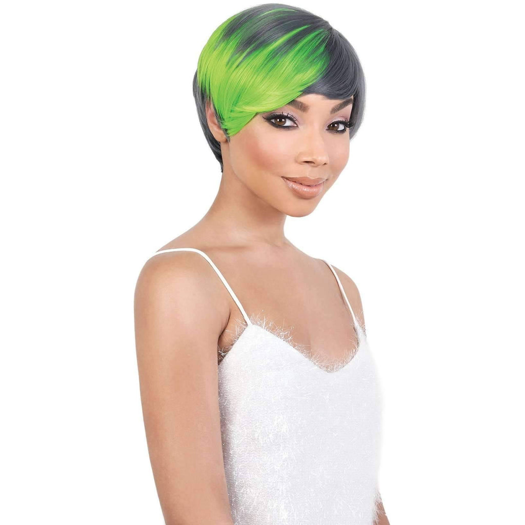 SASSY - Short Length Straight Synthetic Wig | Motown Tress - African American Wigs