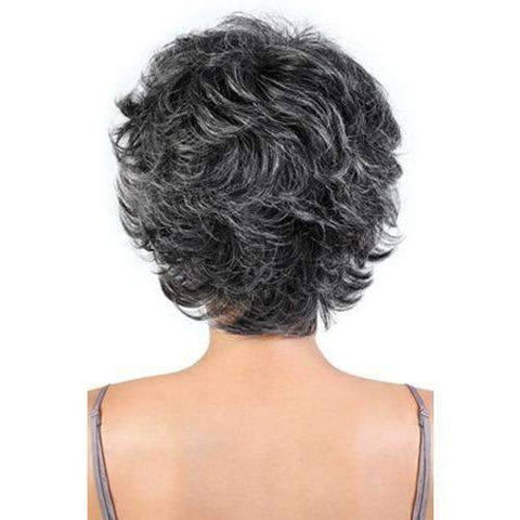 Image of SH.BRENDA - Short Length Wavy Human Hair Wig | Motown Tress - African American Wigs