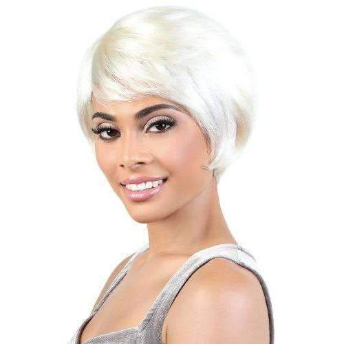 SH.DOTTY - Short Length Straight Human Hair Wig | Motown Tress - African American Wigs
