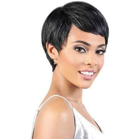 SH.PIXIE - Short Length Straight Human Hair Wig | Motown Tress - African American Wigs
