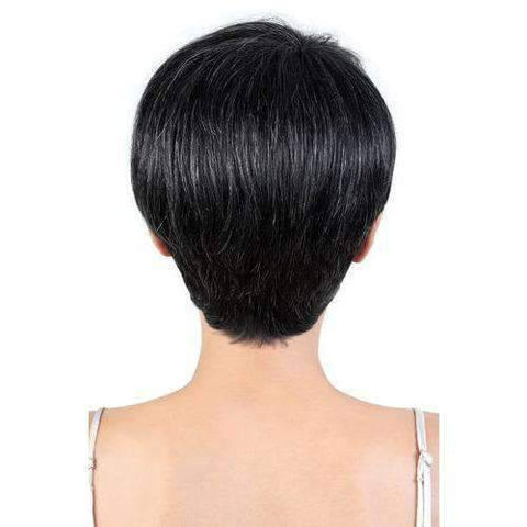 Image of SH.PIXIE - Short Length Straight Human Hair Wig | Motown Tress - African American Wigs