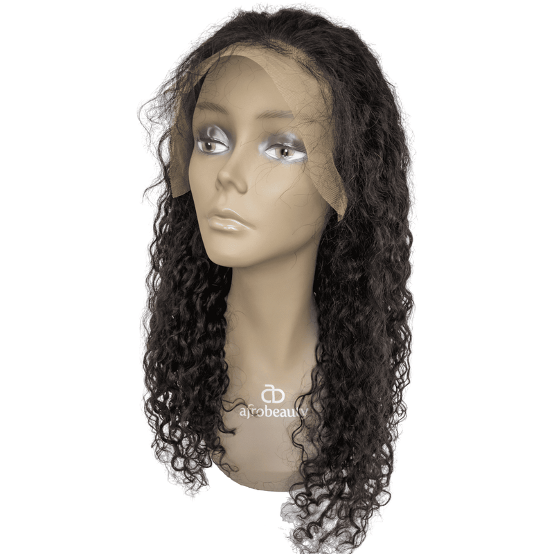 "Sioban | 13 X 4"" Transparent Lace Human Hair Medium Length Wigs - African American Wigs"