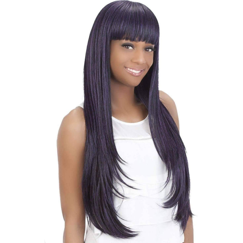 SKYLER Synthetic Layered Bump Style W/ Fringed Bang Wig - Vivica Fox - African American Wigs