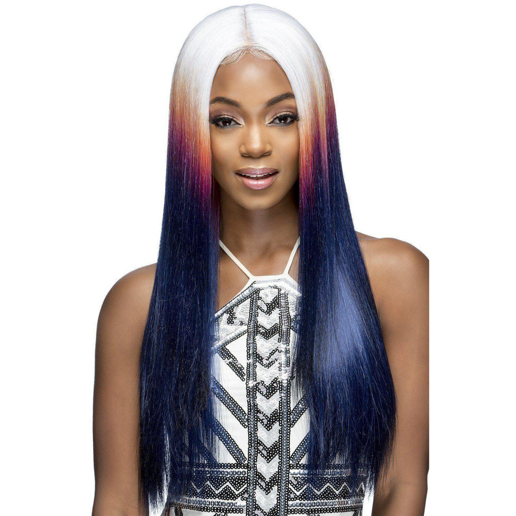 "SPECTRUM 28"" LAYERED STRAIGHT WITH INVISIBLE CENTER PART WIG"