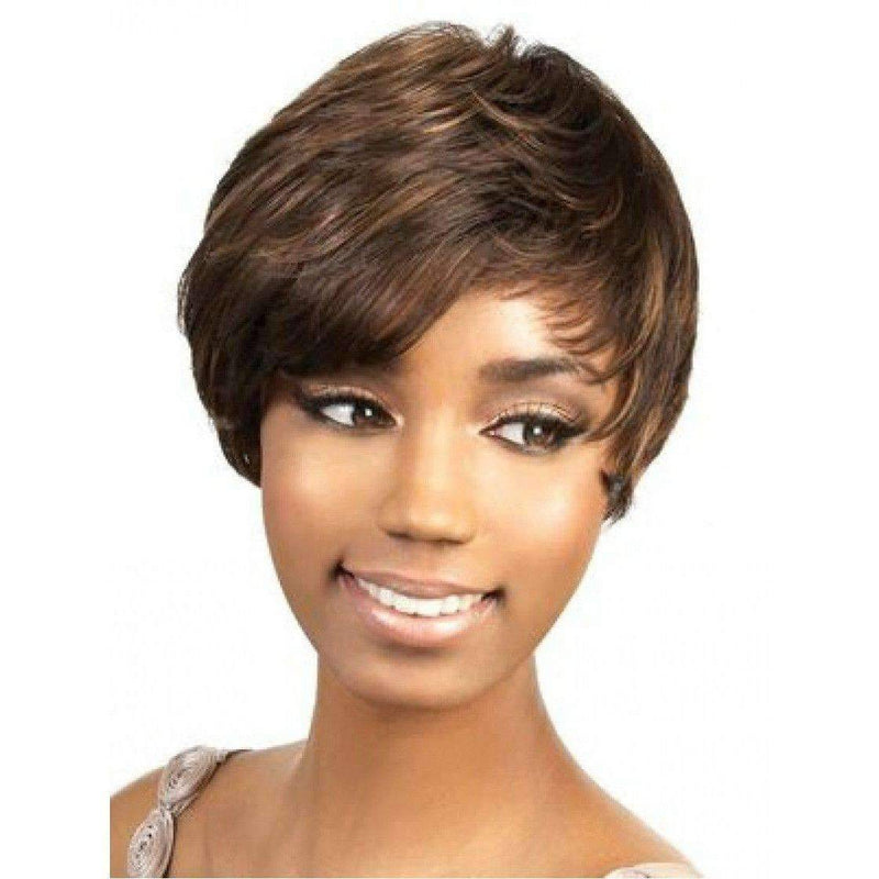 Sweep-Motown Tress Synthetic Hair Wig Short in Color #4 - African American Wigs