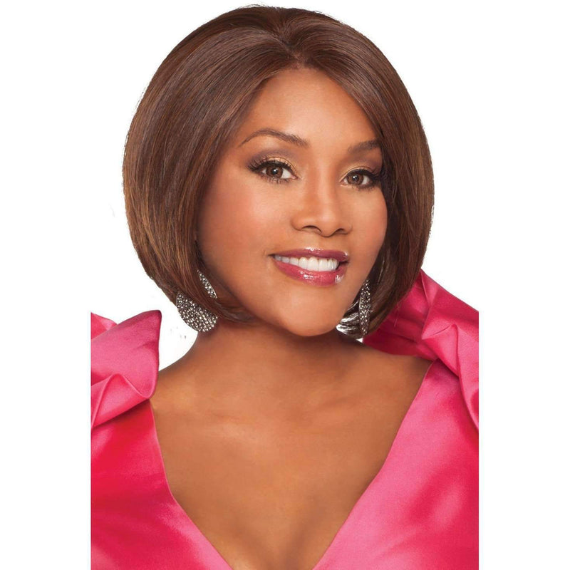 THANDI Synthetic Classic Bob W/feather Tips  Wig - Vivica Fox - African American Wigs