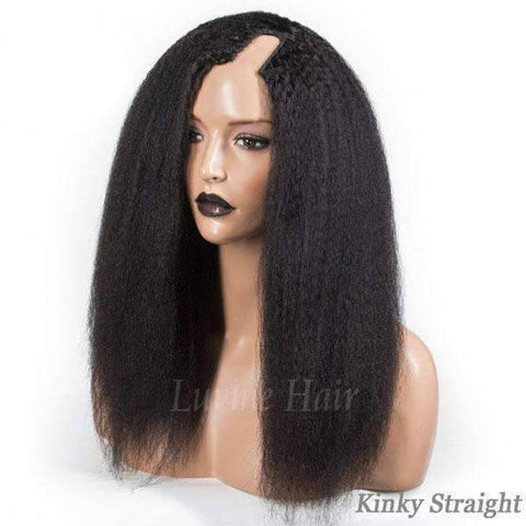 Image of U Part Human Hair Wig - African American Wigs