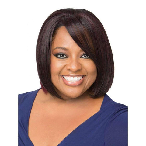 Image of UNDERCUT BOB | Sherri Shepherd Synthetic Wig Medium Brown/Gold - African American Wigs