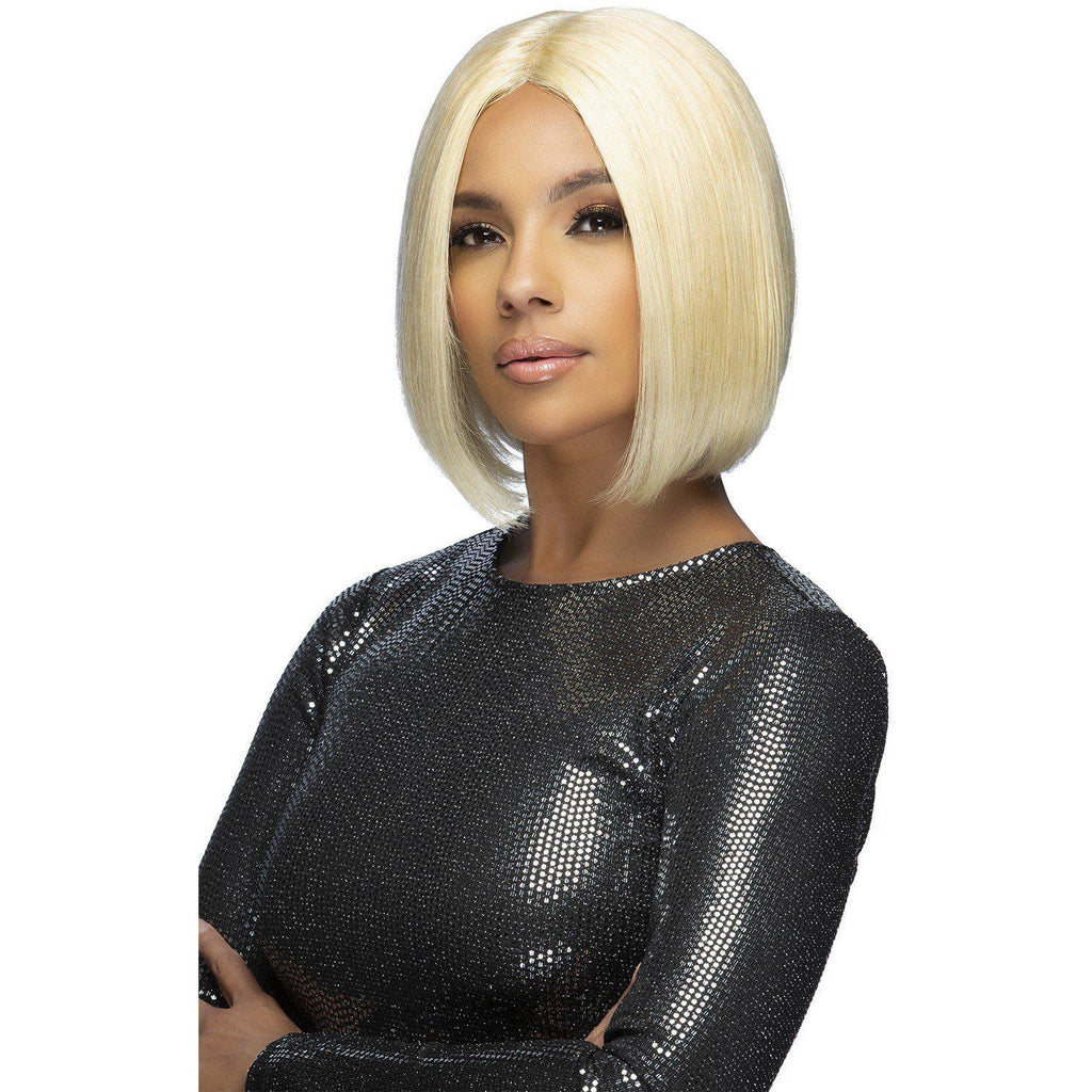 "VIOLIN 10"" STRAIGHT BOB Remi Human Hair Lace Front Wig Vivica Fox"
