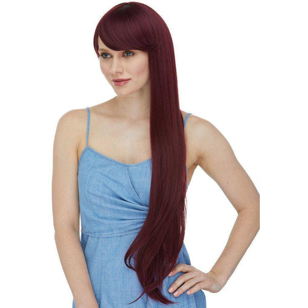 "Aphrodite | 26"" Long High Quality Synthetic Wig with Bangs - African American Wigs"