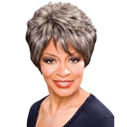 ASHLEY - Foxy Silver Synthetic Wig in Color #4 - African American Wigs