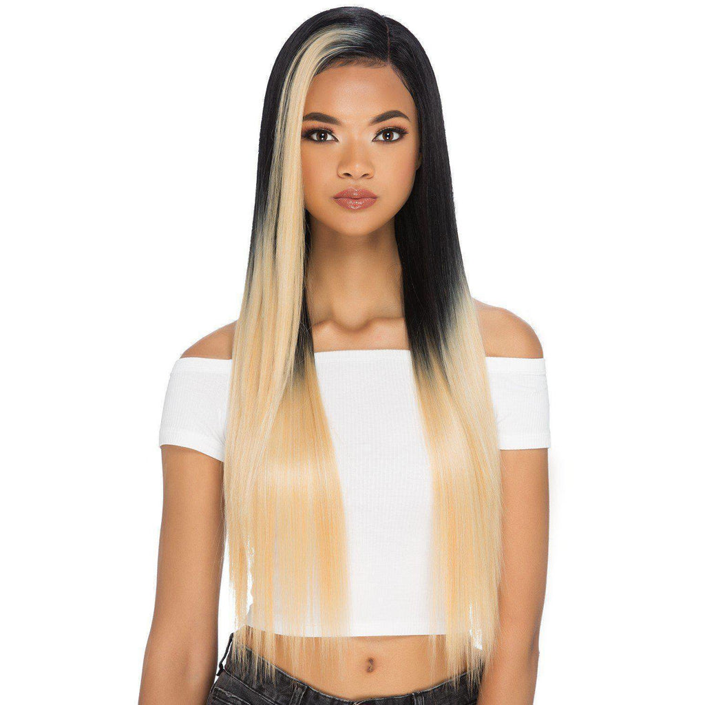 "BLONDIE 30"" LAYERED STRAIGHT STYLE WITH INVISIBLE SIDE PART WIG - African American Wigs"