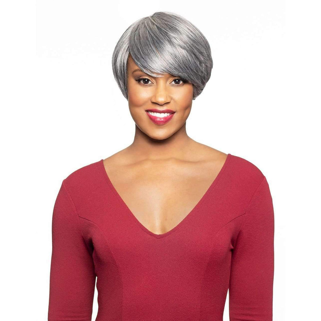 Brenda | Short Heat Friendly Synthetic Wig (Traditional Cap) - African American Wigs