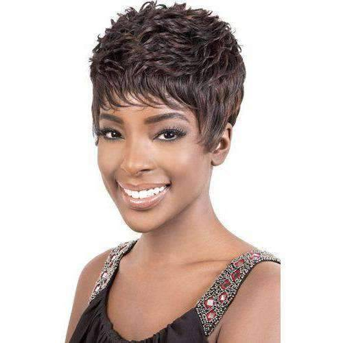 Cameo - Short Length Wavy Synthetic Wig | Motown Tress | African American Wigs - African American Wigs