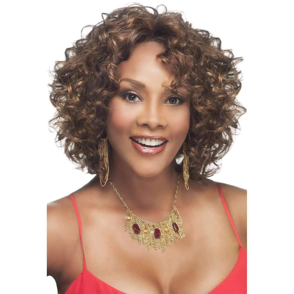 CHILLI-V | Synthetic Heat Resistant Fiber Wig (Lace Front Traditional Cap) - Medium Lenght Wig