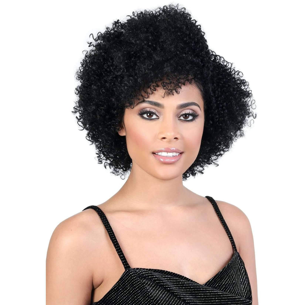 DP.EMMA - Short Length Curly Synthetic Wig | Motown Tress - African American Wigs