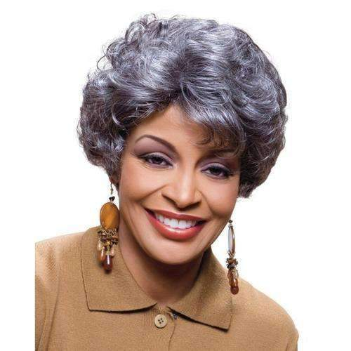 ELEN - Foxy Silver Synthetic Wig - African American Wigs