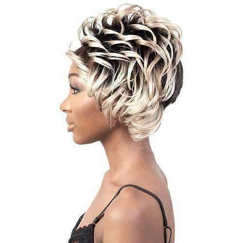 Fendi - Short Length Curly Synthetic Wig | Motown Tress | African American Wigs - African American Wigs