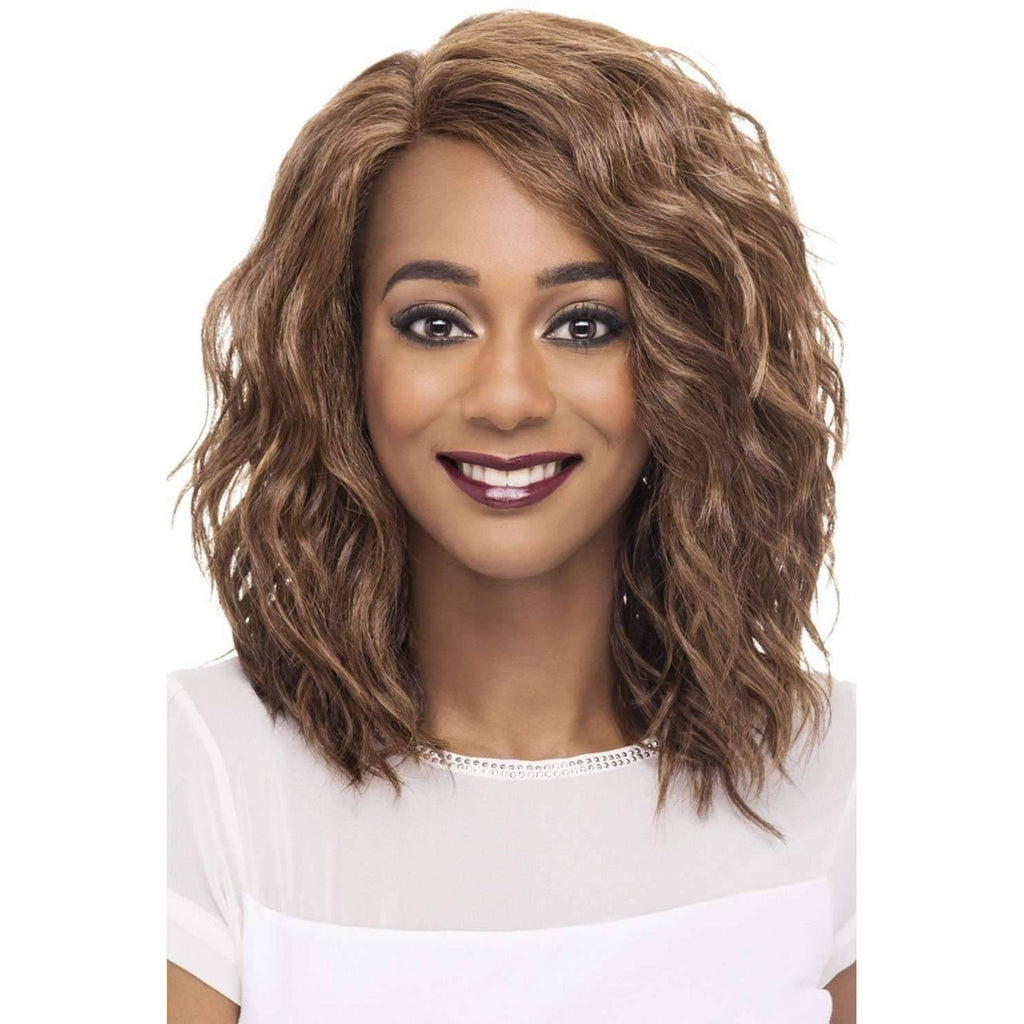 FINN | Synthetic Heat Resistant Fiber Wig (Lace Front Traditional Cap) - Medium Lenght Wig