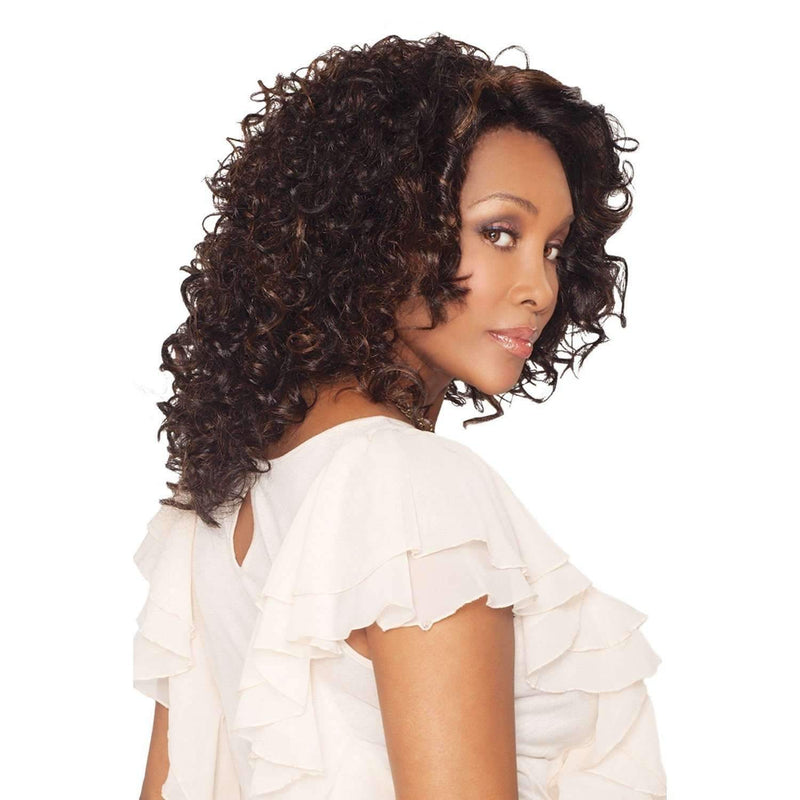 Foxy - Vivica Fox Lace Front Synthetic Wig in Color #1B - African American Wigs