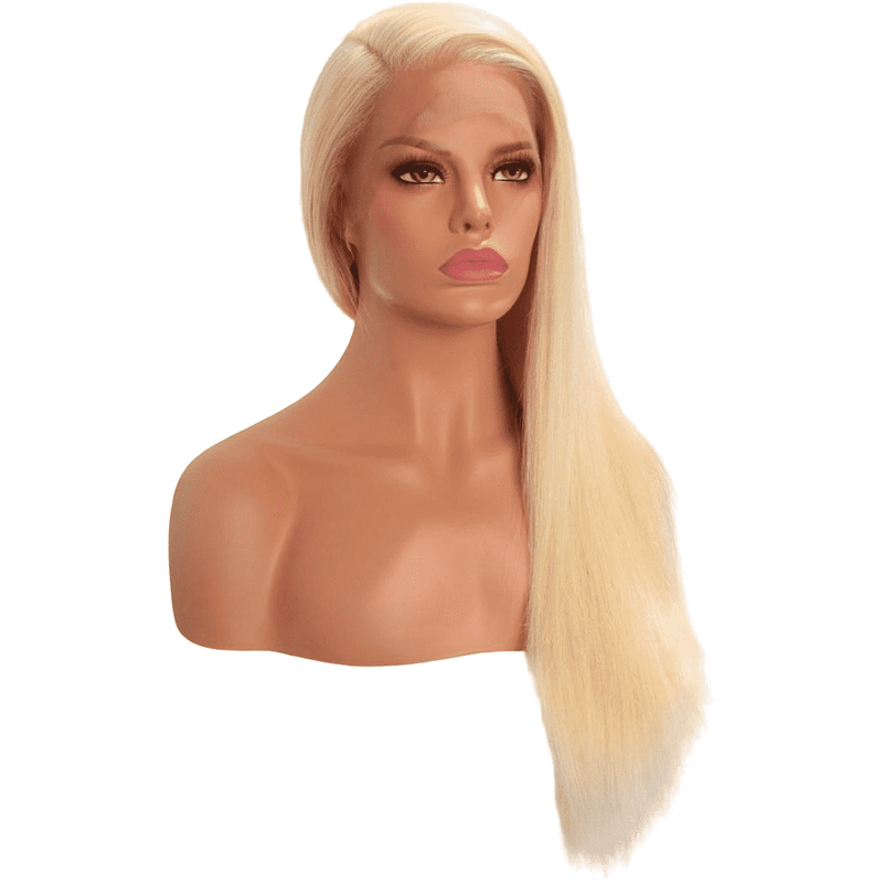 Goldie | 13 X 4 Frontal Transparent Lace 613 Human Hair Wig - African American Wigs