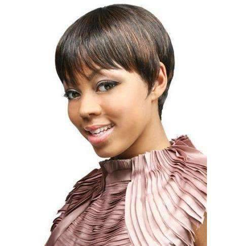 H. Sada - Short Length Straight Human Hair Wig | Motown Tress | African American Wigs - African American Wigs