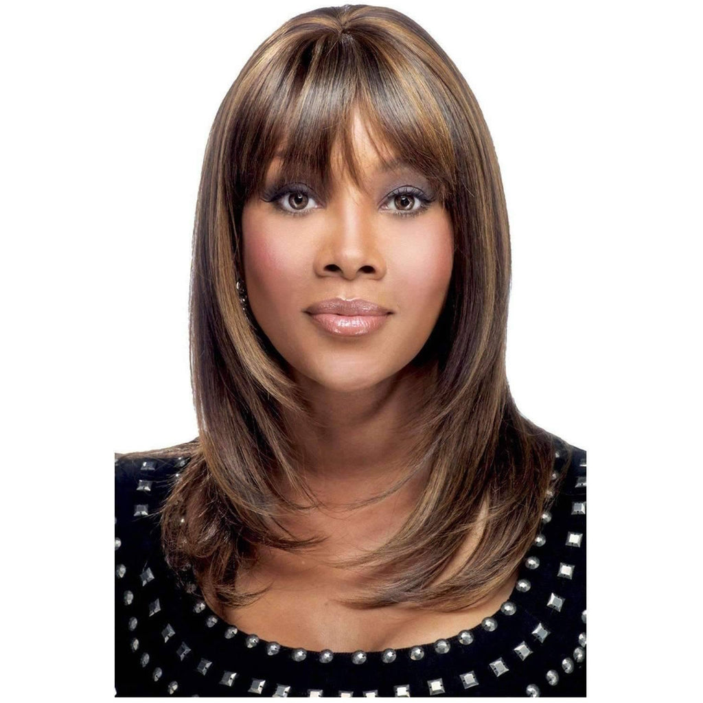 H201-V | Human Hair Wig (Traditional Cap) - African American Wigs