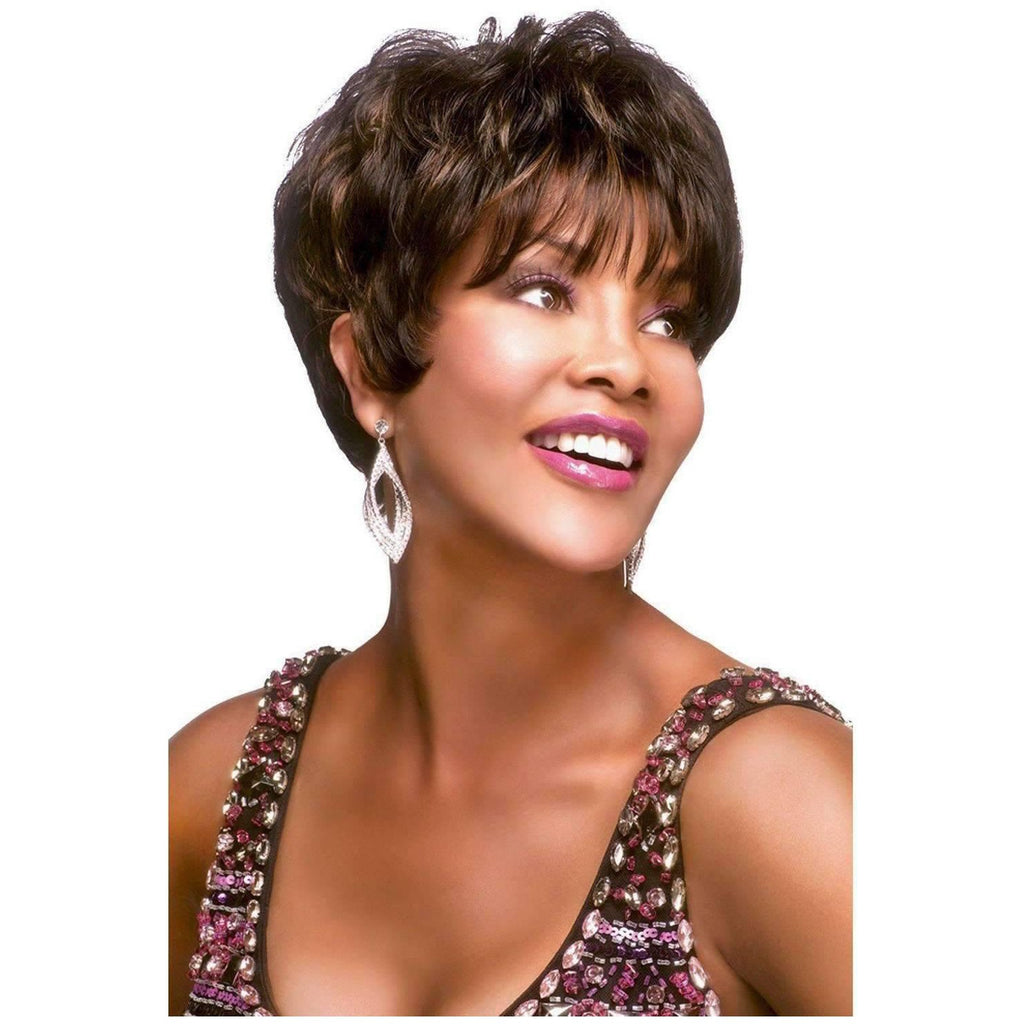 H205-V | Human Hair Wig (Traditional Cap) - African American Wigs