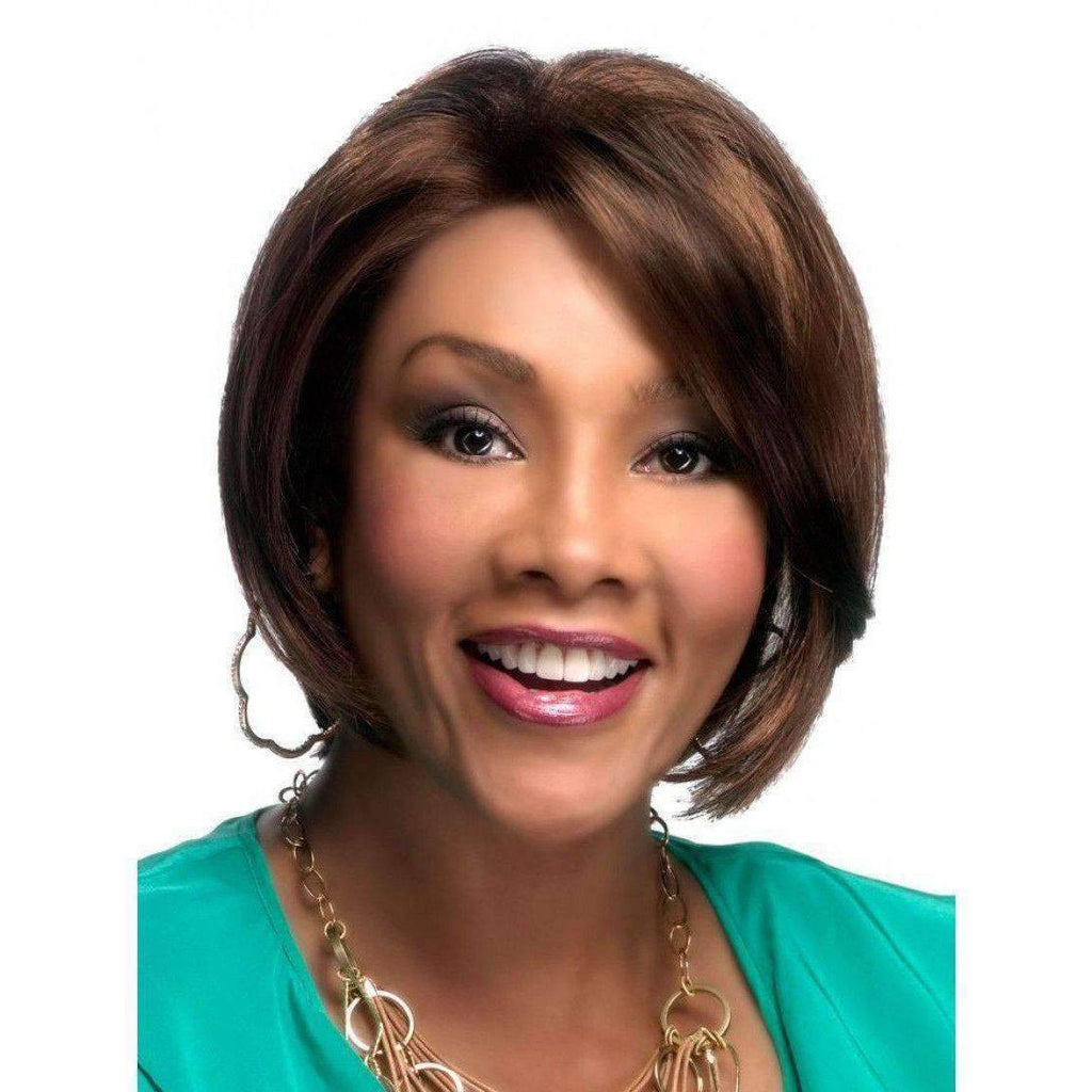 Hayden - Vivica Fox Lace Front Synthetic Wig in Color #1B - African American Wigs