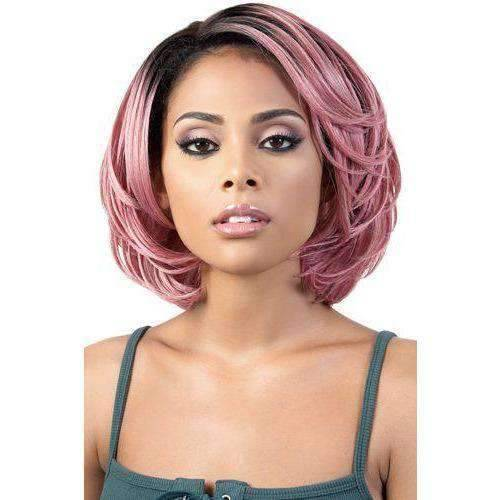 HBLDP.Nea - Medium Length Wavy Human Hair Blend Wig | Motown Tress | African American Wigs - Medium Length Wigs