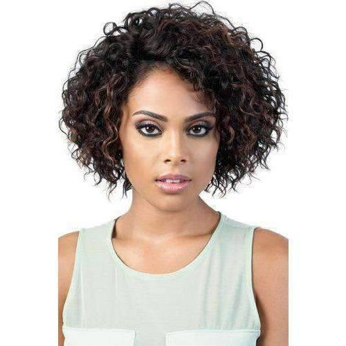 HBLDP.Rox - Medium Length Curly Human Hair Blend Lace Front Wig | Motown Tress | African American Wigs - African American Wigs