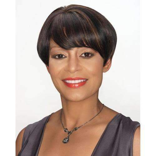 H/H SADIE - Foxy Silver Human Hair Wig - African American Wigs