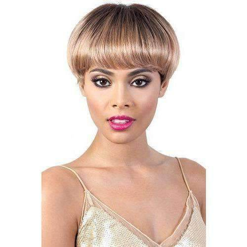 HR. Amber - Short Length Curly Human Hair Wig | Motown Tress - African American Wigs
