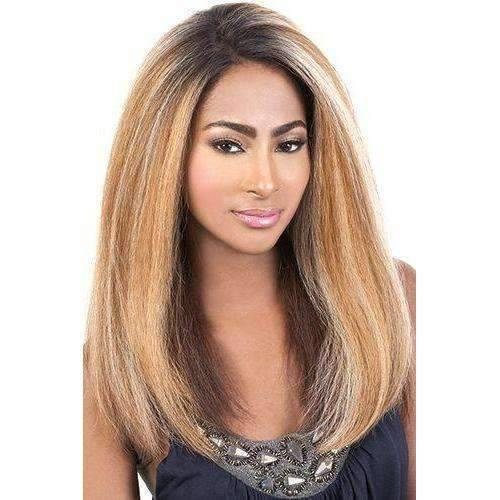 Hue-Motown Tress  Human Hair Blend Wig Long in Color  RT1B/3027 - African American Wigs