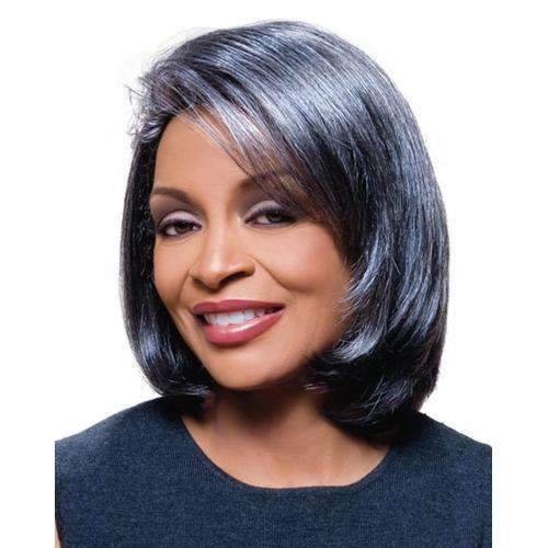 JAMIE - Foxy Silver Synthetic Wig - African American Wigs