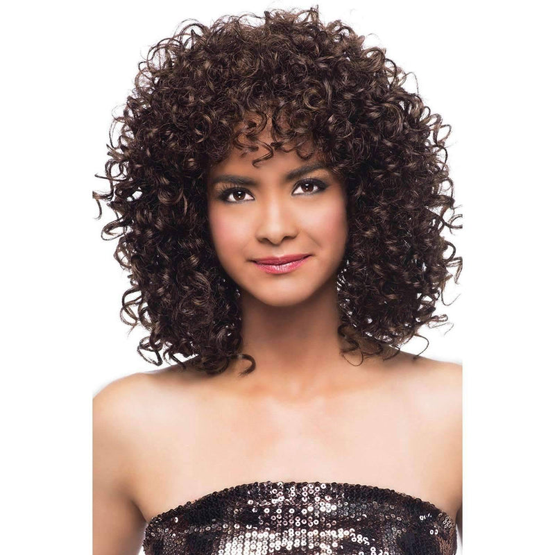 KIZZIE Synthetic Mid Length Voluminous Spiral Curl Wig - Vivica Fox - African American Wigs