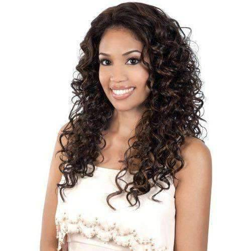 L. MINTA - Long Length Curly High Quality Synthetic Wig | Motown Tress - African American Wigs