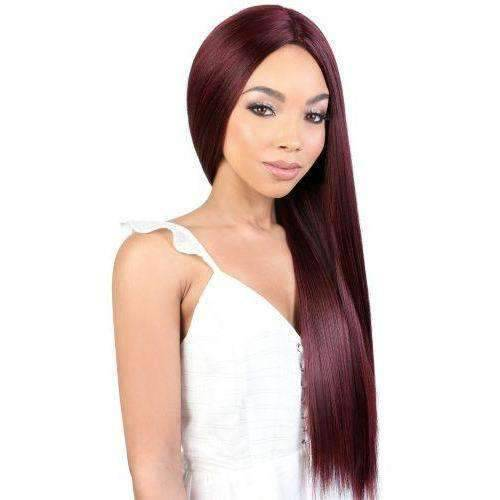 LDP-FINE27 - Extra Long Length Straight High Quality Synthetic Wig | Motown Tress - African American Wigs